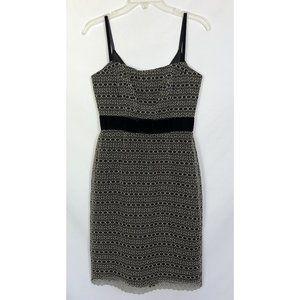 Milly Mesh Embroidered Sheath Dress Velvet Bow 2
